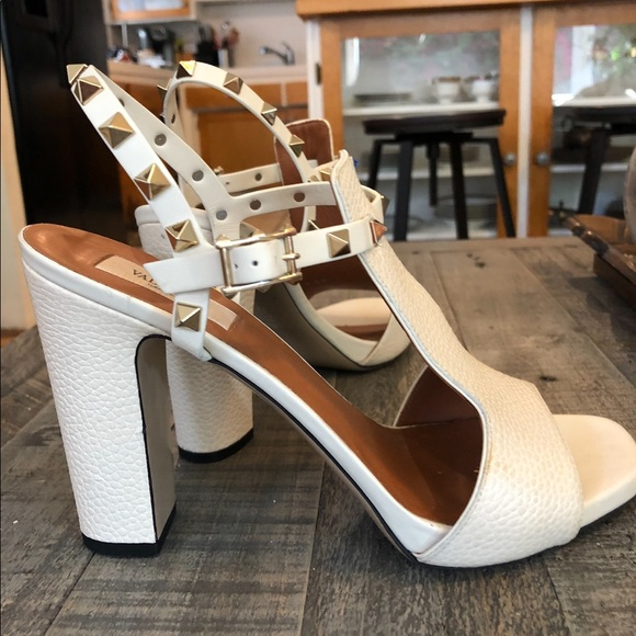 Valentino Shoes - Valentino-Rockstud cut out Ankle Sandal